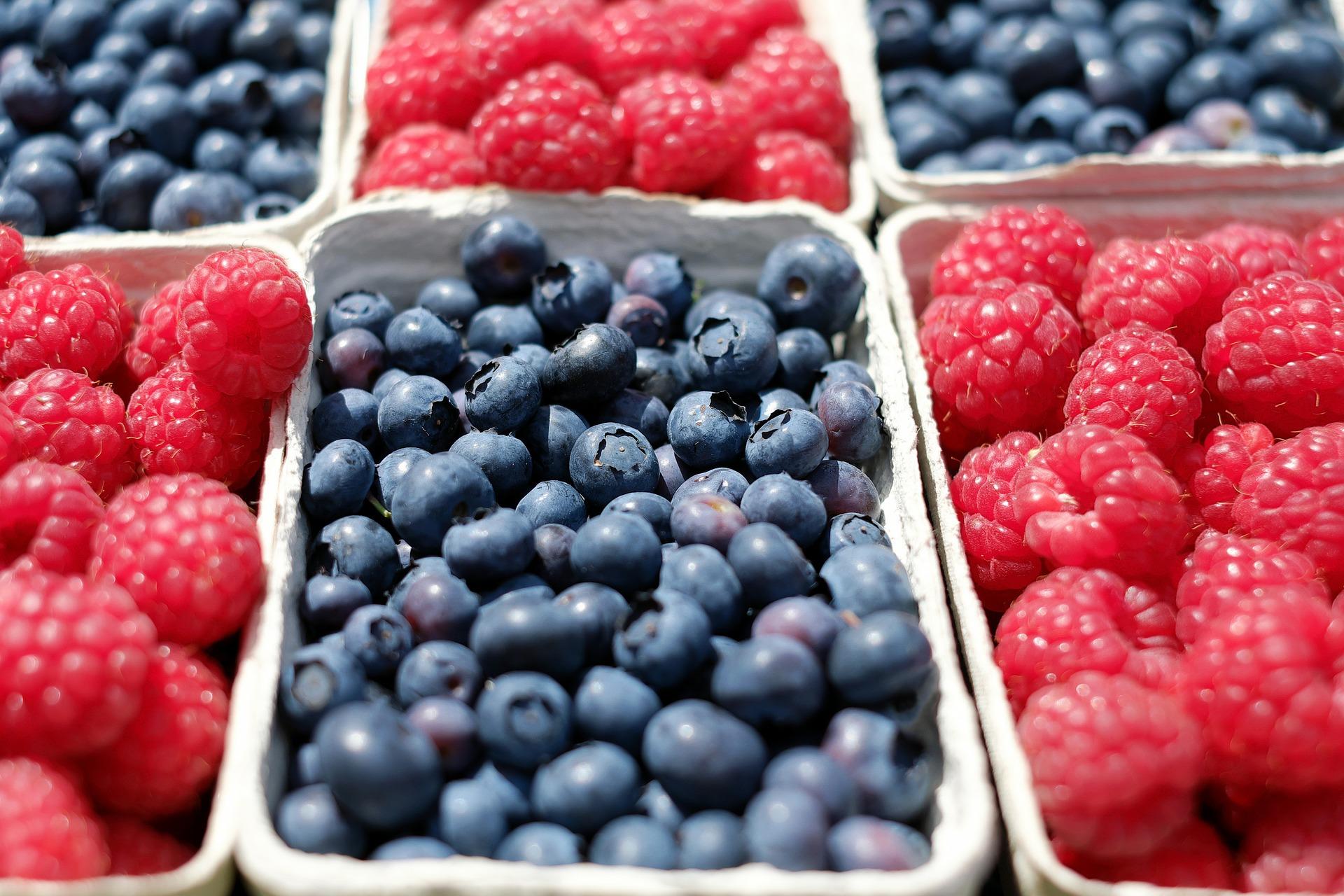 low GI snacks - berries